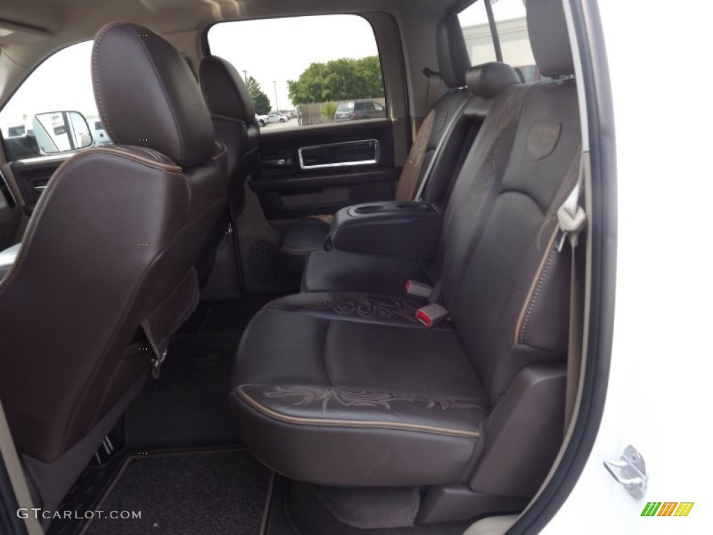 Light Pebble Beige Bark Brown Interior 2011 Dodge Ram 1500 Laramie Longhorn Crew Cab 4x4 Photo