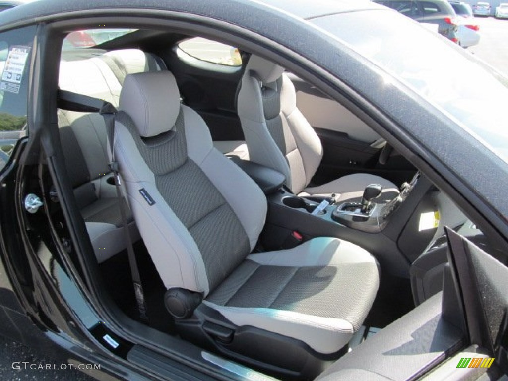 Gray leather gray cloth interior 2013 hyundai genesis coupe 2 0t premium photo 65351745