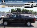 2012 Black Chevrolet Silverado 1500 LT Extended Cab 4x4  photo #1