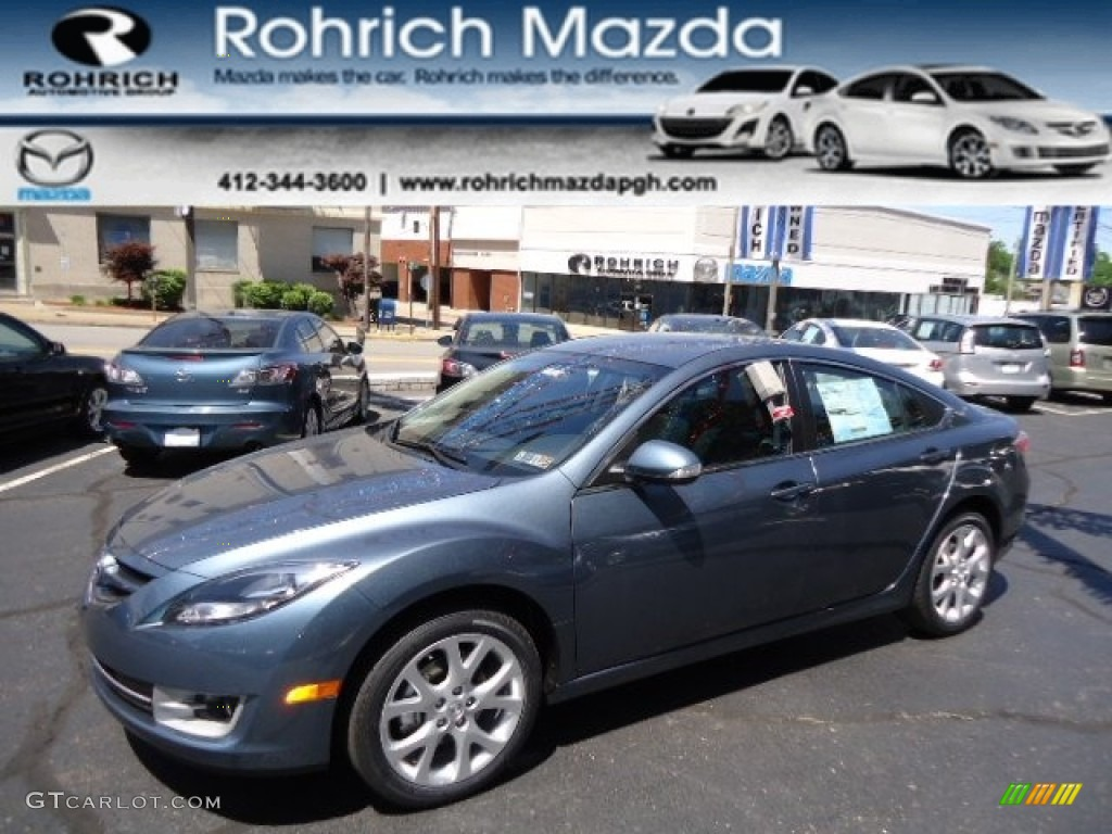 2013 steel blue mazda mazda6 i touring plus sedan. Black Bedroom Furniture Sets. Home Design Ideas