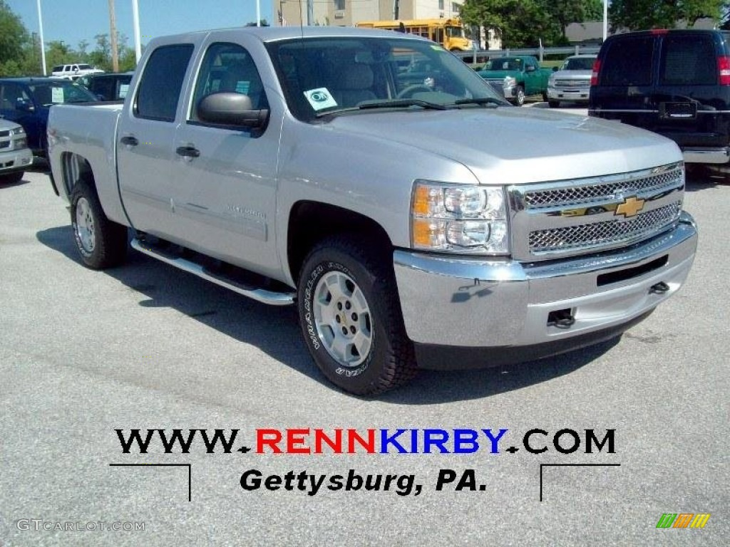 2012 Silverado 1500 LT Crew Cab 4x4 - Silver Ice Metallic / Light Titanium/Dark Titanium photo #1