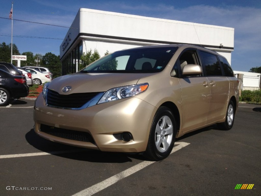 2011 Sienna LE - Sandy Beach Metallic / Bisque photo #1