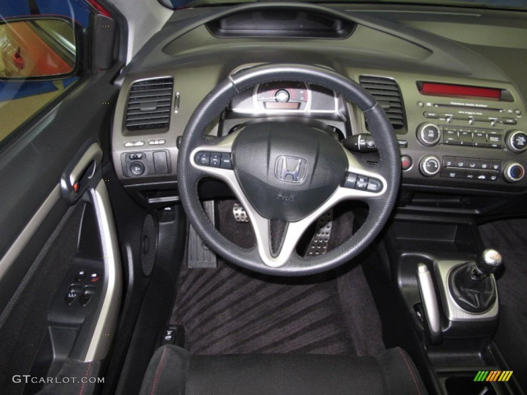 2006 Honda Civic Si Coupe Black Dashboard Photo #65395833 | GTCarLot.com