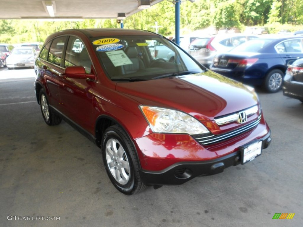 2009 CR-V EX-L 4WD - Tango Red Pearl / Ivory photo #1