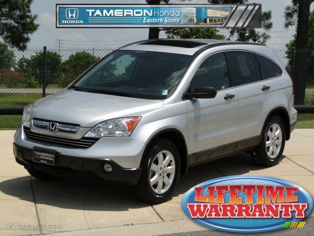 2009 CR-V EX - Alabaster Silver Metallic / Gray photo #1