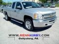 2012 Silver Ice Metallic Chevrolet Silverado 1500 LT Extended Cab 4x4  photo #1