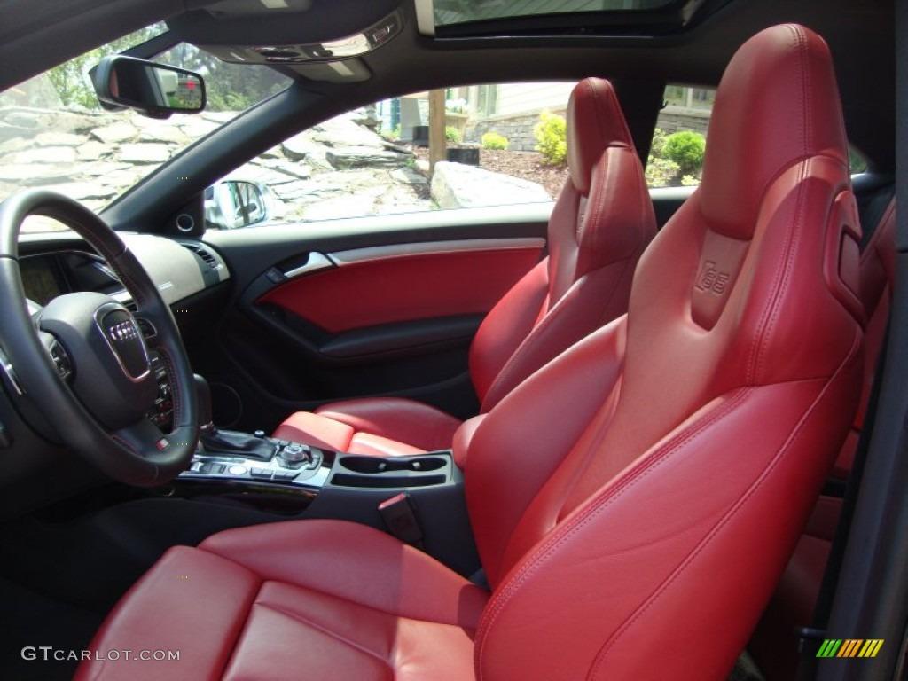 Magma Red Silk Nappa Leather Interior 2010 Audi S5 4.2 FSI quattro ...