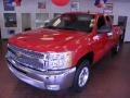 2012 Victory Red Chevrolet Silverado 1500 LT Extended Cab  photo #3