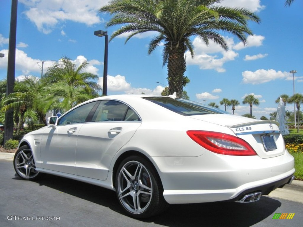 Diamond white metallic 2012 mercedes benz cls 63 amg for 2012 mercedes benz cls