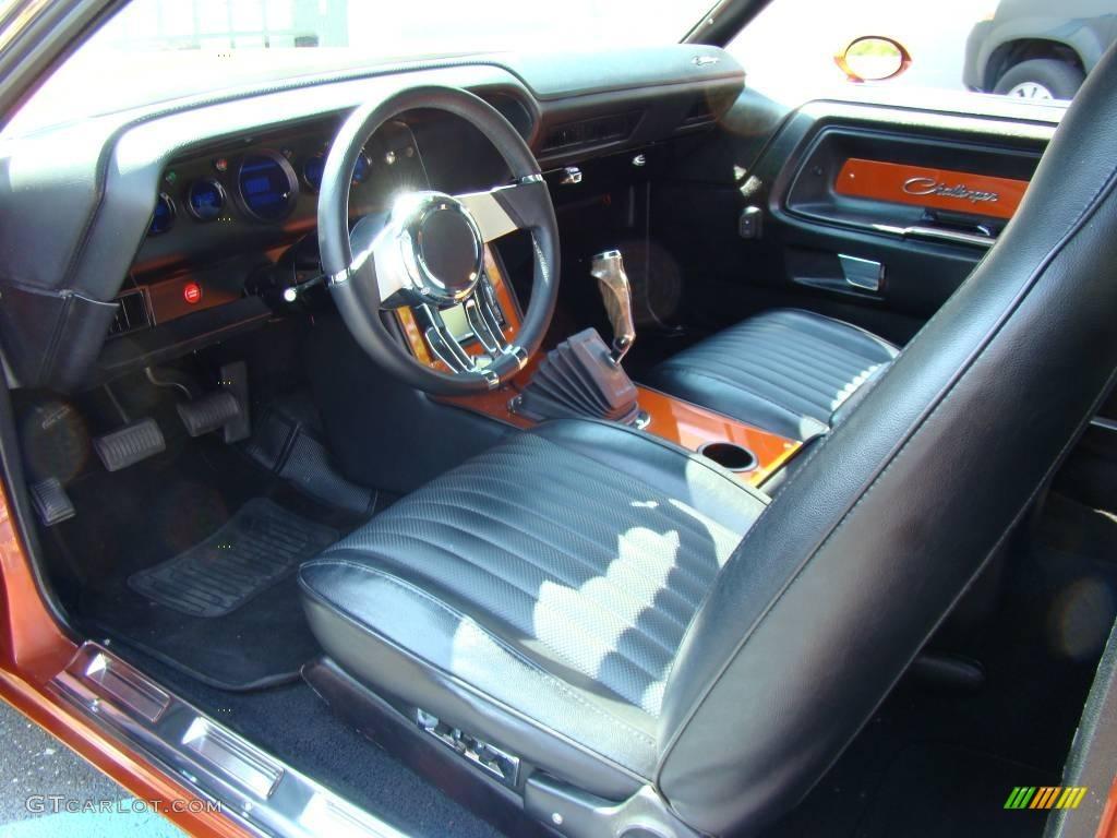 Black interior 1970 dodge challenger 2 door hardtop photo 6548476 gtcarlot com