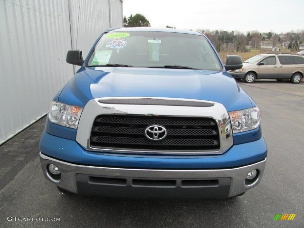 2008 Tundra Double Cab 4x4 - Blue Streak Metallic / Graphite Gray photo #3