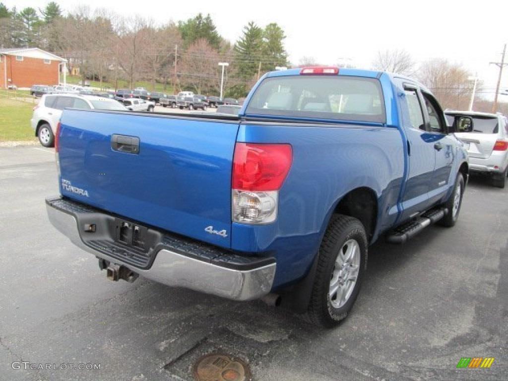 2008 Tundra Double Cab 4x4 - Blue Streak Metallic / Graphite Gray photo #6