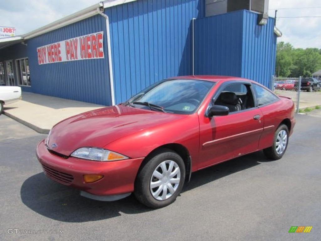 1999 Cavalier Coupe - Cayenne Red Metallic / Graphite photo #1