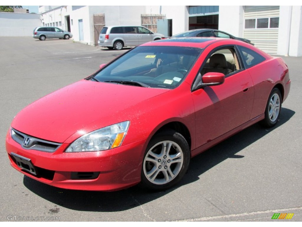 San Marino Red 2007 Honda Accord Ex L Coupe Exterior Photo