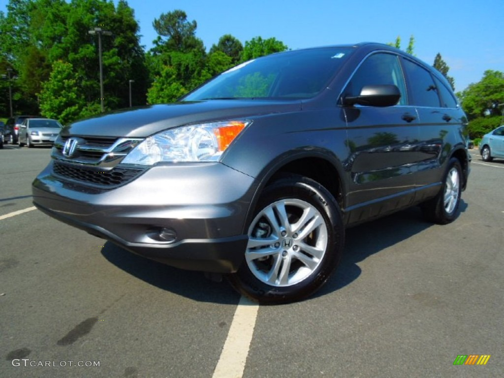 2011 CR-V EX 4WD - Polished Metal Metallic / Black photo #1
