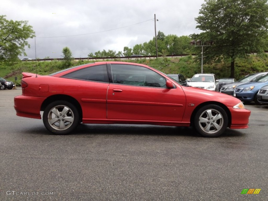 Bright Red 2002 Chevrolet Cavalier Z24 Coupe Exterior ...