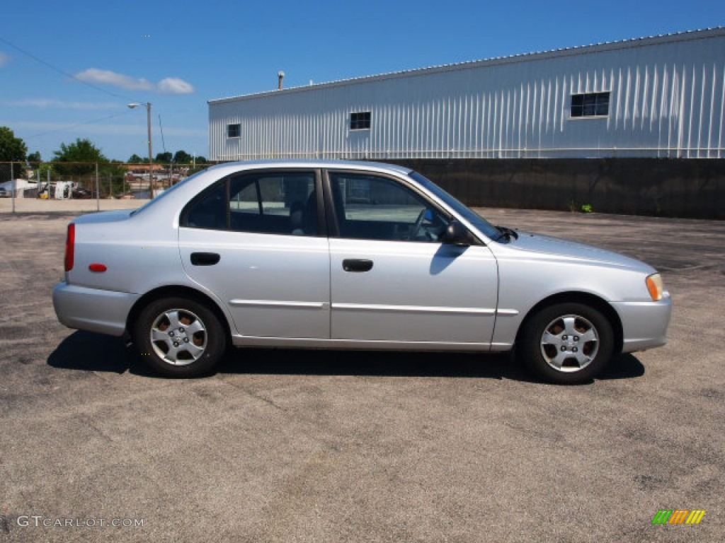 2002 silver mist hyundai accent gl sedan 65480843 gtcarlot com car color galleries gtcarlot com