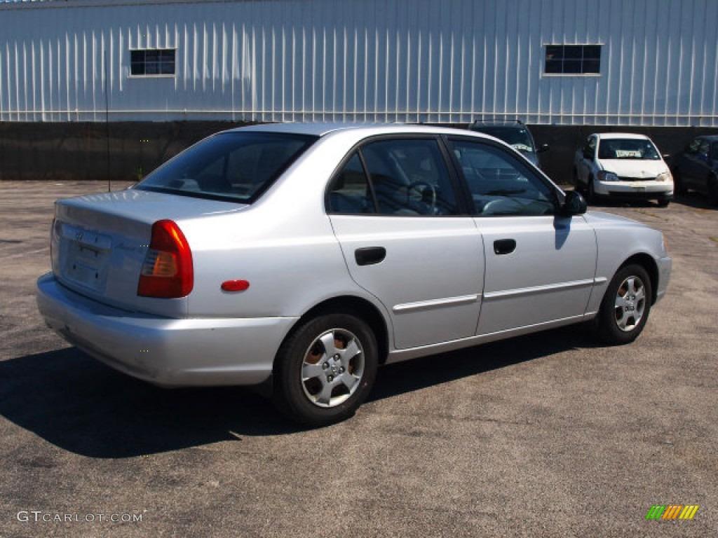 2002 silver mist hyundai accent gl sedan 65480843 photo 2 gtcarlot com car color galleries gtcarlot com