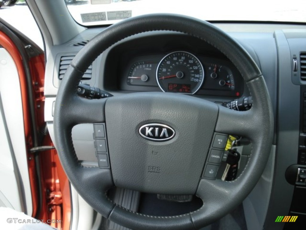 2009 kia borrego lx v6 4x4 beige steering wheel photo. Black Bedroom Furniture Sets. Home Design Ideas