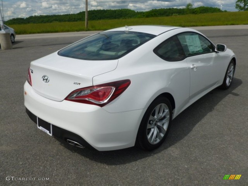 Monaco White 2013 Hyundai Genesis Coupe 2.0T Premium Exterior Photo  #65520195
