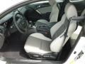 Gray Leather/Gray Cloth Front Seat Photo for 2013 Hyundai Genesis Coupe #65520266
