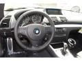 2012 BMW 1 Series Black Interior Steering Wheel Photo