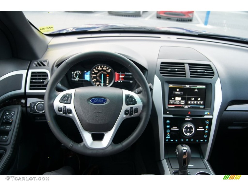 2013 Ford Explorer Limited 4WD Pecan/Charcoal Black Dashboard Photo #65548620