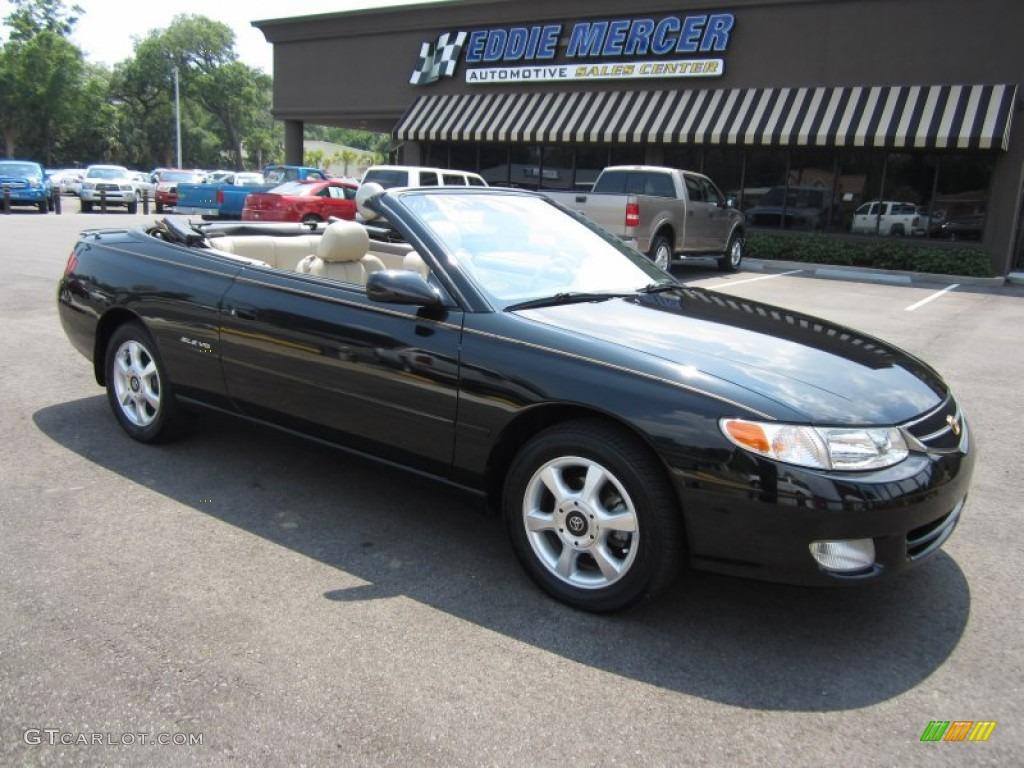 2001 Black Sand Pearl Toyota Solara Se V6 Convertible