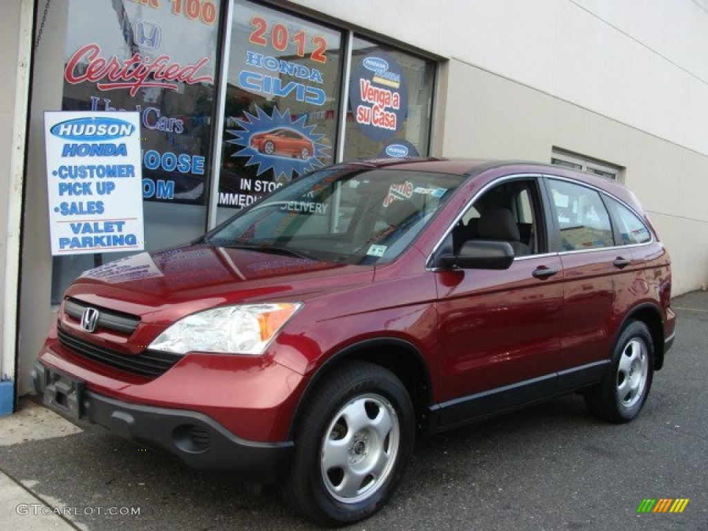 2009 CR-V LX 4WD - Tango Red Pearl / Ivory photo #1
