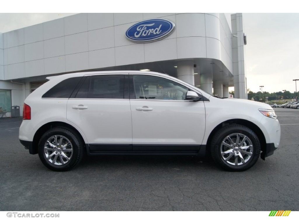 white platinum tri coat 2013 ford edge limited ecoboost exterior photo 65569537. Black Bedroom Furniture Sets. Home Design Ideas