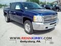 2012 Blue Topaz Metallic Chevrolet Silverado 1500 LT Crew Cab 4x4  photo #1