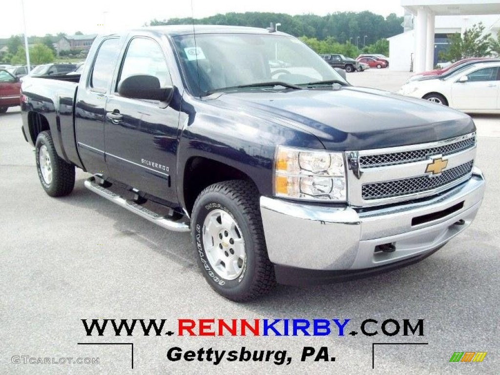 2012 Silverado 1500 LT Extended Cab 4x4 - Imperial Blue Metallic / Light Titanium/Dark Titanium photo #1