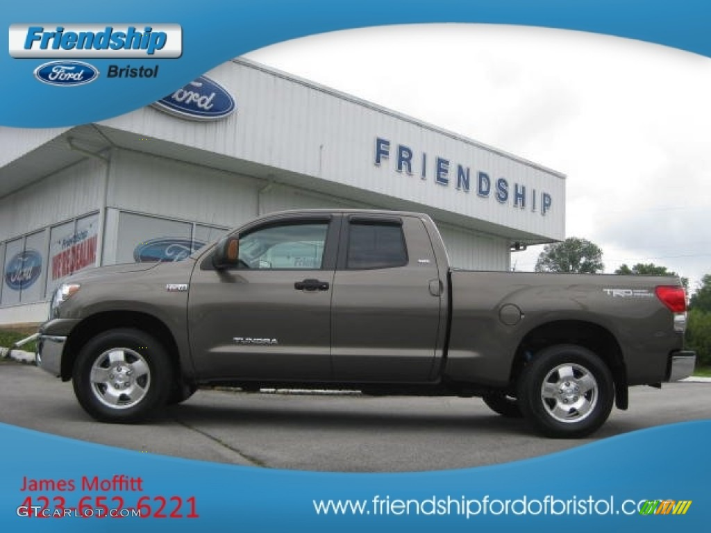 2009 Tundra SR5 Double Cab 4x4 - Pyrite Tan Mica / Graphite Gray photo #1