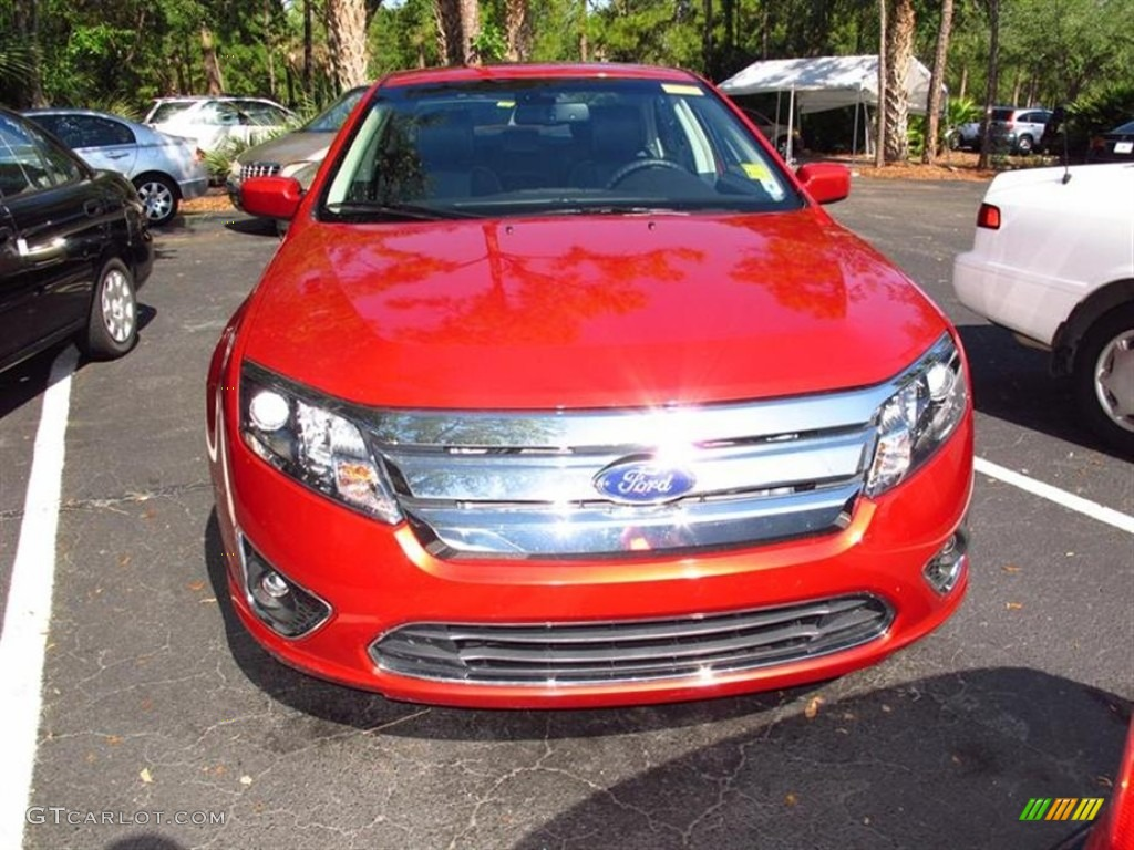 2011 Fusion SEL - Red Candy Metallic / Charcoal Black photo #1