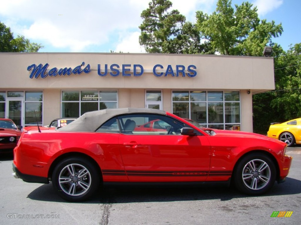 2011 Mustang V6 Premium Convertible - Race Red / Stone photo #1