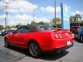 2011 Race Red Ford Mustang V6 Premium Convertible  photo #6