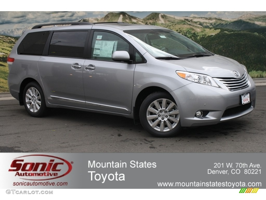 2012 Sienna Limited AWD - Silver Sky Metallic / Light Gray photo #1
