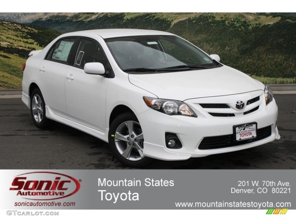 2012 Super White Toyota Corolla S 65553377 Gtcarlot Com