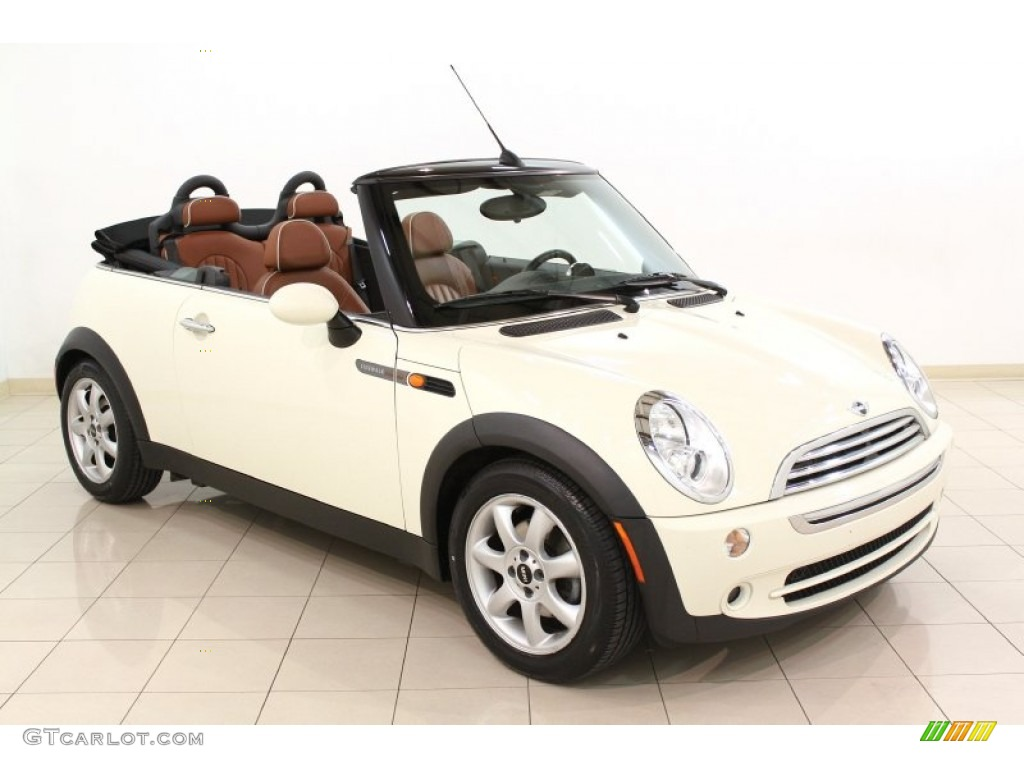 Pepper White Mini Cooper Convertible Sidewalk Edition