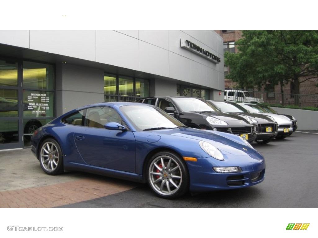 2007 911 Carrera 4S Coupe - Cobalt Blue Metallic / Sand Beige photo #1