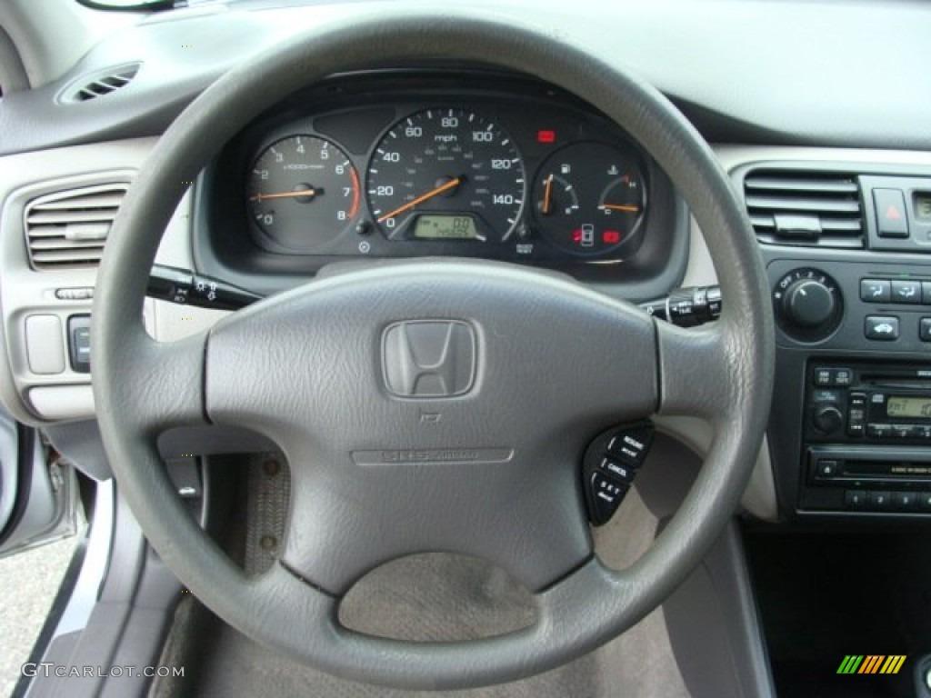 2001 Honda Accord LX Sedan Quartz Gray Steering Wheel Photo #65617380