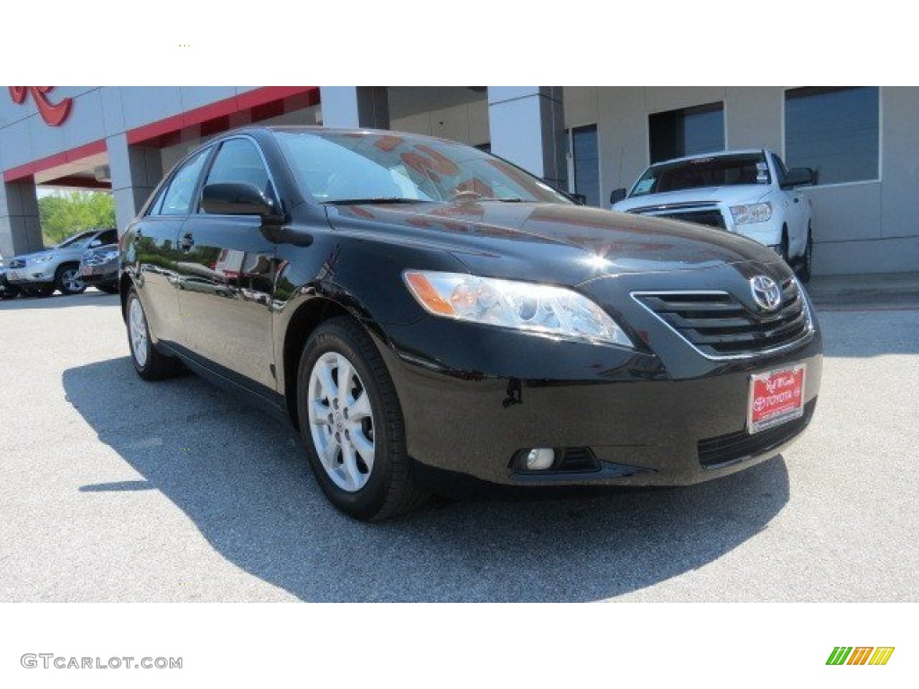 2008 black toyota camry xle v6 65611903 car color galleries. Black Bedroom Furniture Sets. Home Design Ideas
