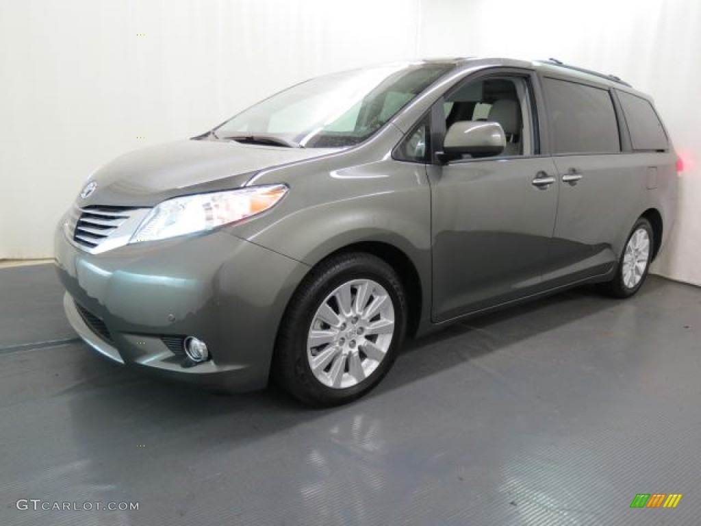 Cypress Green Pearl 2012 Toyota Sienna Limited Exterior Photo 65642092