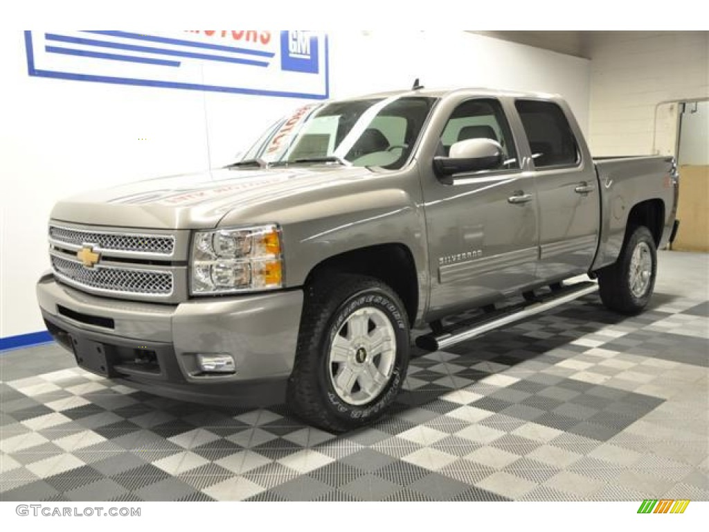 2012 Silverado 1500 LTZ Crew Cab 4x4 - Graystone Metallic / Light Titanium/Dark Titanium photo #1