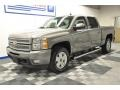 2012 Graystone Metallic Chevrolet Silverado 1500 LTZ Crew Cab 4x4  photo #1
