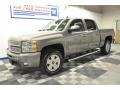 2012 Graystone Metallic Chevrolet Silverado 1500 LTZ Crew Cab 4x4  photo #2