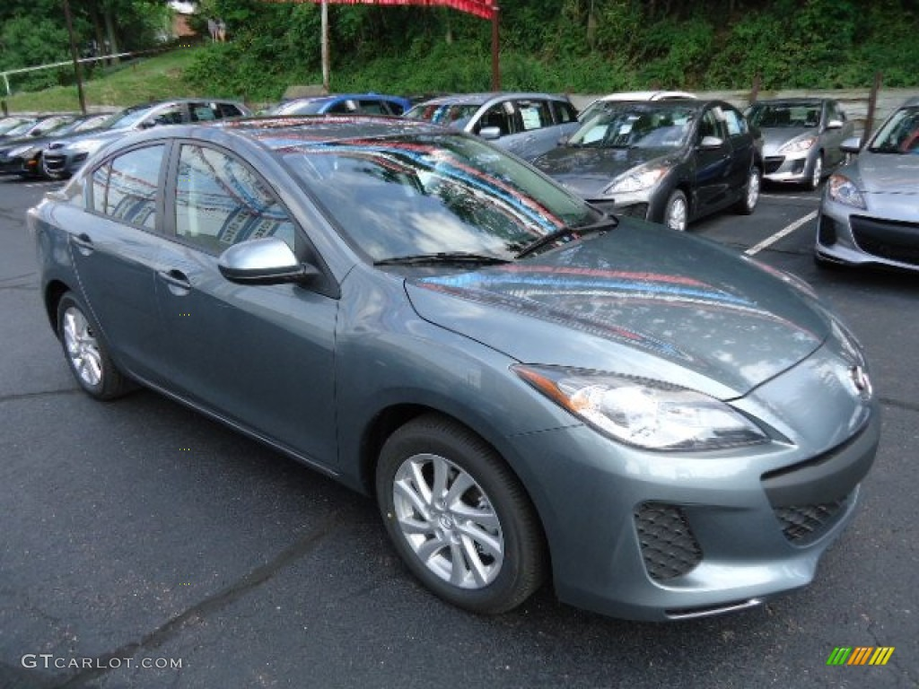 dolphin gray mica 2012 mazda mazda3 i grand touring 4 door. Black Bedroom Furniture Sets. Home Design Ideas