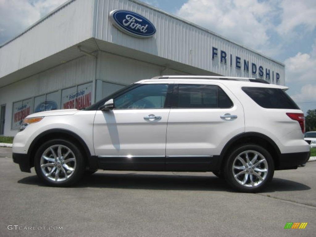 2013 white platinum tri coat ford explorer limited 4wd 65680783 car color. Black Bedroom Furniture Sets. Home Design Ideas