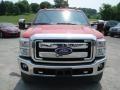 2012 Vermillion Red Ford F250 Super Duty XLT SuperCab 4x4  photo #3