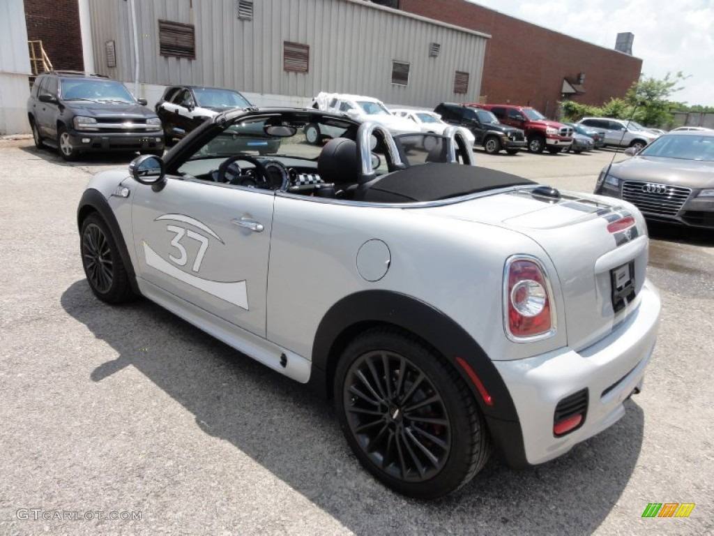 white silver metallic 2012 mini cooper john cooper works roadster exterior photo 65722928. Black Bedroom Furniture Sets. Home Design Ideas